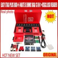 2021 nuevo Original jtag fácil plus caja + de alta velocidad E-MATE X Emate caja EMMC BGA 13 en 1 + USB 3,0 multi función lector de tarjeta de cable