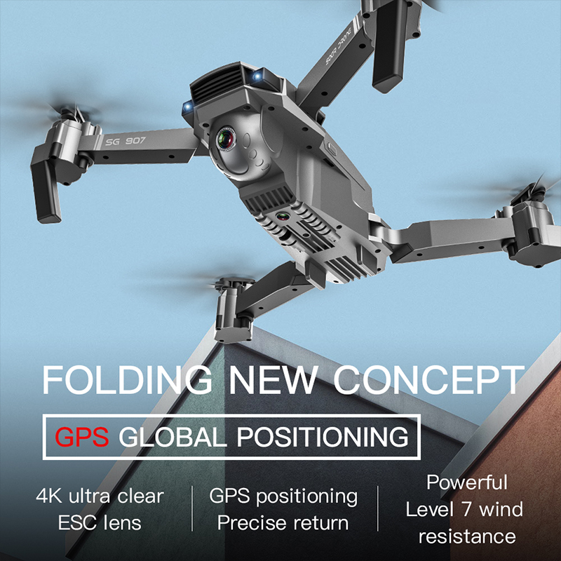 LAUMOX SG907 GPS Drone with 4K HD Adjustment Camera Wide Angle 5G WIFI FPV RC Quadcopter Professional Foldable Drones E520S E58 2