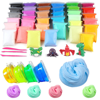 24 Colors Clay Toys DIY Slimes Toy  With Tools Learning Hands-on Toys For Children Nail Art  Hands Plasticine Safe Clay Toys