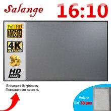 Salange Écran Projection 16:10 ,100 120 pouces écran de Projection en tissu réfléchissant pour projecteur vidéo YG300 XGIMI DLP LED