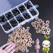 100/142 pces acessórios da boneca do globo ocular plástico preto ofícios olhos para brinquedos 6 12mm diy brinquedos engraçados olhos acessórios para bonecas