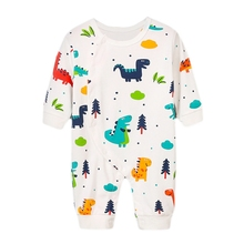 New Autumn Baby Boy Girl Casual Romper Infant Cartoon Print Long Sleeve Children Rompers Outfits цена
