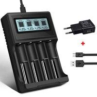 PALO 3.7V 18650 충전기 16350 14500 18500 리튬 배터리 충전기 USB 스마트 충전기 18650 충전식 3.7V 배터리 충전기