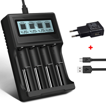 PALO 3.7V 18650 charger 16350 14500 18500 lithium Battery Charger USB smart charger for 18650 rechargeable 3.7V battery charger