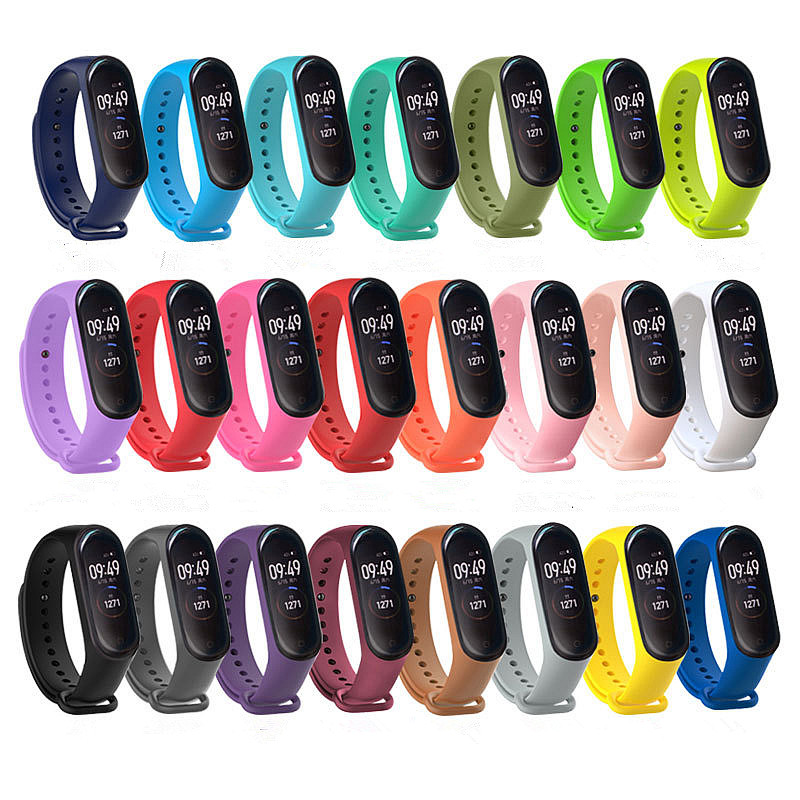 For Xiaomi Mi Band 4 Strap New Fashional Colorful For Miband 4 Strap Silicone Belt Replacement For Xiaomi Mi 4 Band
