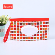 Wet wipes box portable Baby Wipes Box Wet Wipe Box Cleaning Wipes Carrying Bag Clamshell Snap Strap Wipe Container Case EVA недорого