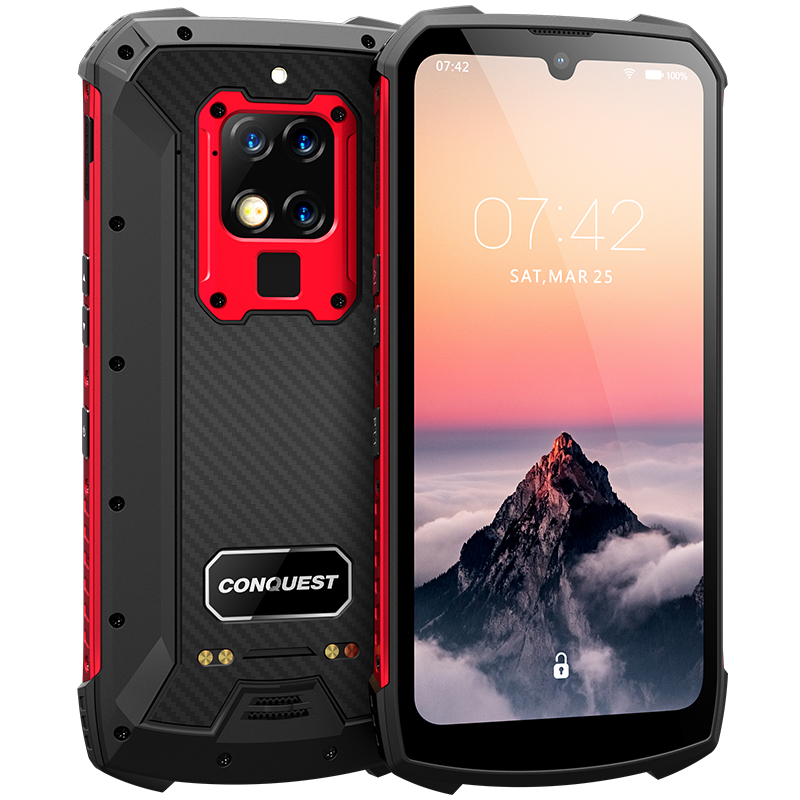 Conquest S16 IP68 Rugged Mobile Phone 6.3 Inch Helio P90 Octa Core 8GB 256GB 48MP Camera Android 9 Infrared Remote Control Phone
