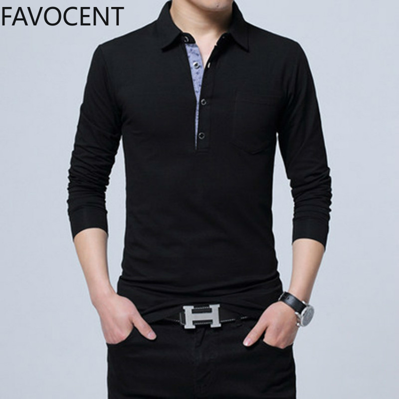 New Polo Shirt Men Long Sleeve Cotton Polo Men Fashion Casual Slim Polo Shirts Male Plus Size Solid Tee Shirt Streetwear Full