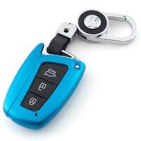 Neue durable ABS Gemalt Auto Key schutz Shell Für Hyundai Grand Santa Fe IX45 2013 2014 2015 2016 schlüssel Fall remote Zubehör-in Schlüsseletui für Auto aus Kraftfahrzeuge und Motorräder bei