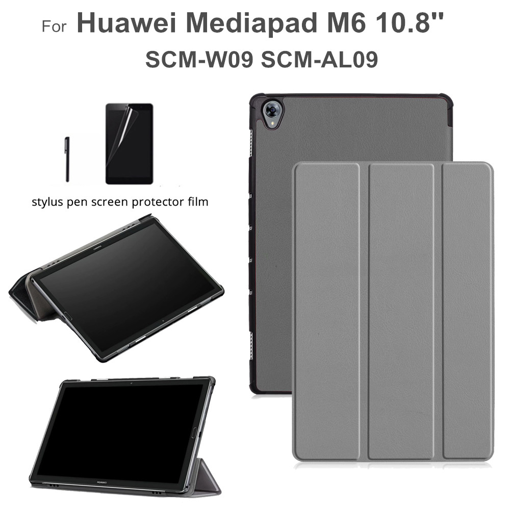 Magnet Case For Huawei Mediapad M6 10.8 Inch SCM-W09 SCM-AL09 Flip Funda Stand Cover For Huawei M6 10.8 Case +gift