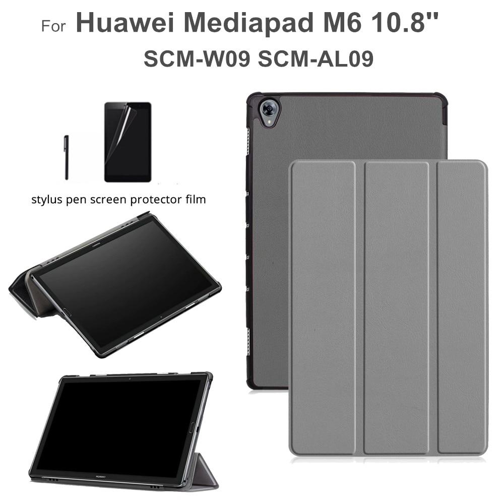 Magnet Case For Huawei Mediapad M6 10.8 Inch SCM-W09 SCM-AL09 Flip Funda Stand Cover For Huawei M6 10.8 Case +gift