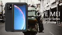 Gorilla glass film gift) LOVE MEI Metal Waterproof Case For iPhone 11 Pro Max Shockproof Cover For iPhone 11/11 Pro cover capa
