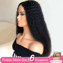 Kinky Curly 30 Inch 13x4 Lace Front Wigs For Women AIRCABIN Brazilian Natural Color Remy Human Hair Glueless Lace Closure Wigs