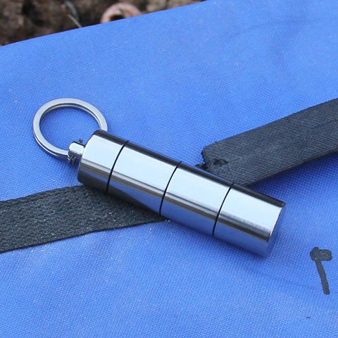 artesao ti titanio pilula armazenamento eco recipiente caso caixa portatil ultraleve de titanio a prova