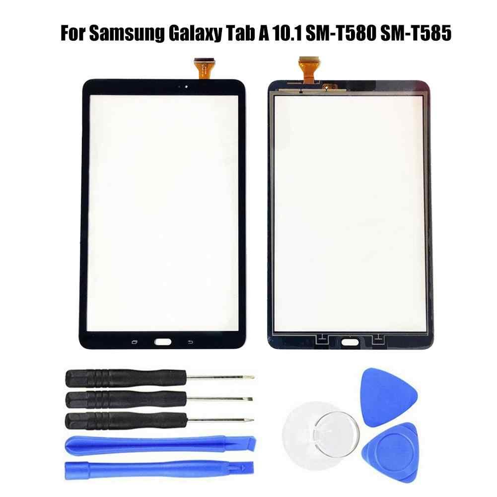 Tela sensível ao toque de substituição para samsung galaxy tab a 10.1 SM-T580/SM-T585 tela de toque digitador da tela de vidro frontal