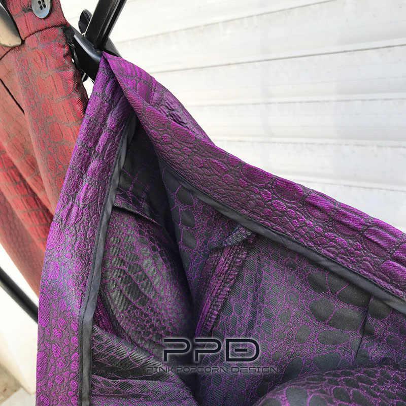 2 kleur Retro Custom Geweven Bloem Krokodil Patroon Afdrukken Y2K Hoge Taille Kleine Rechte Glad Hoge Taille Casual Broek