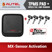 4 Uds Autel mx sensor 433MHz 315MHz OBD2 herramienta de diagnóstico Sensor programable para sistema de supervisión de presión de neumáticos TPMS para TS601