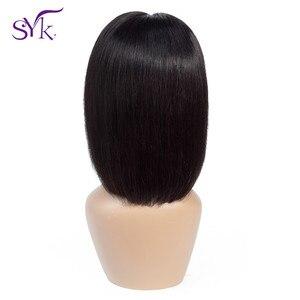 SYK Short Bob Wig Lace Closure Human Hair Wigs Brazilian Straight Human Hair 4*4 Lace Size Bob Wig For Women Non Remy Hair Wig
