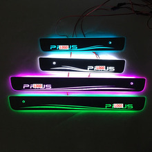 Car styling for Toyota PRIUS LED Door Sill Scuff Plate Welcome Pedal threshold shining brilliant pedal for TOYOTA PRIUS