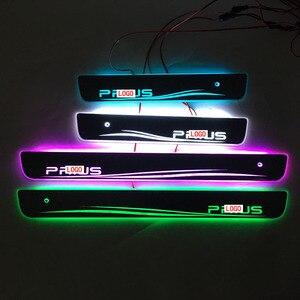 Image 1 - Carro estilo para toyota prius led peitoril da porta placa de chinelo pedal bem vindo limiar brilhante brilhante pedal para toyota prius