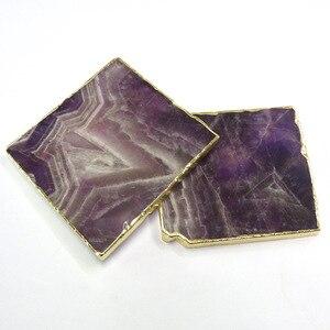 Nordic naturalny marmur biżuteria Pad prosty proszek kryształ agat podstawki ametyst galwanizacja podkładki izolacyjne ciepła podkładka Mat