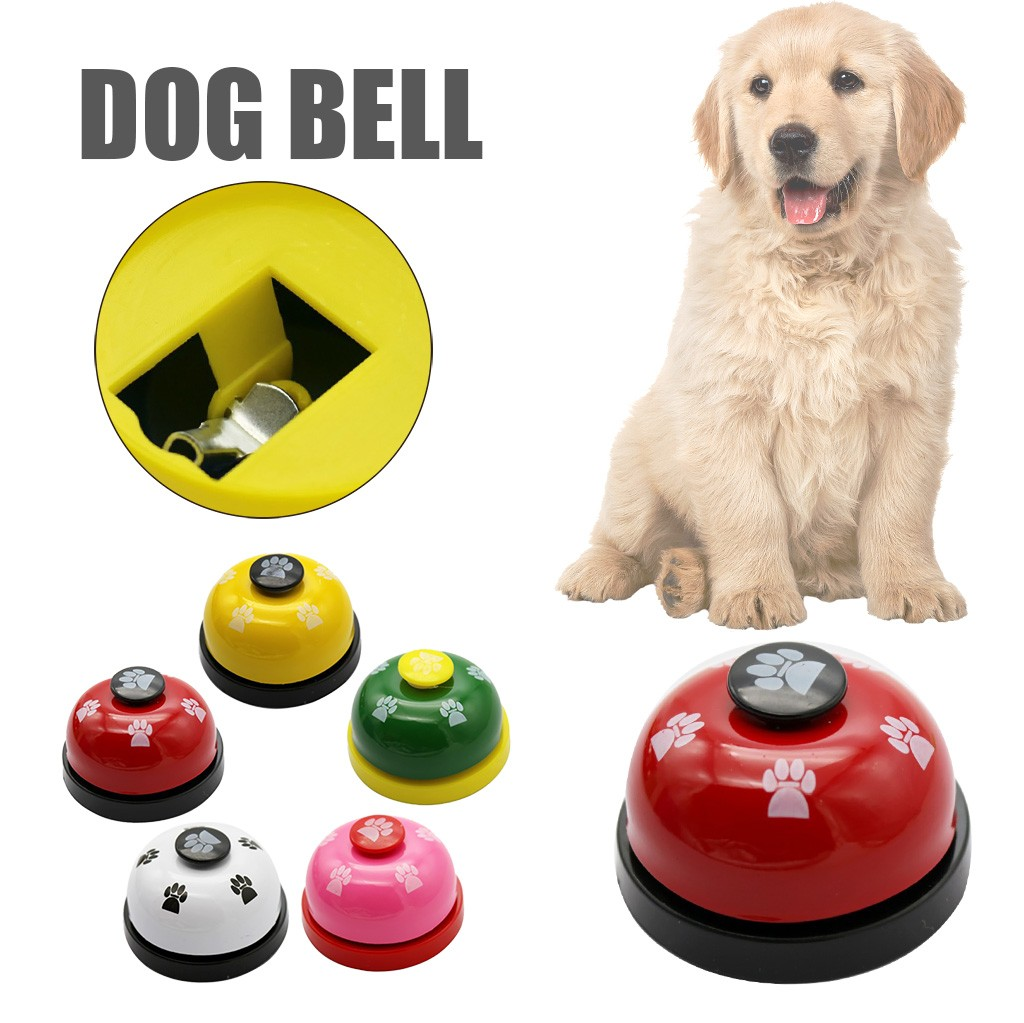 Pet Dog Training Metal Bell Dog Trainings Dogs Pets Accessories Non Rubber Bottoms Interactive Toys Collar Adiestramiento Perro-0