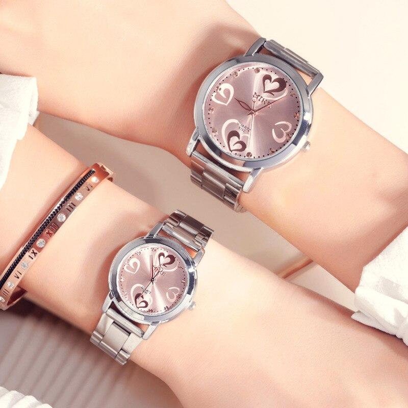 luxo masculino valentine presente relógio relógios senhoras