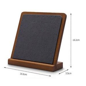Image 2 - 木製スタッドのイヤリングディスプレイ小道具ウィンドウジュエリーディスプレイイヤリング収納ラックディスプレイスタンド配置垂直