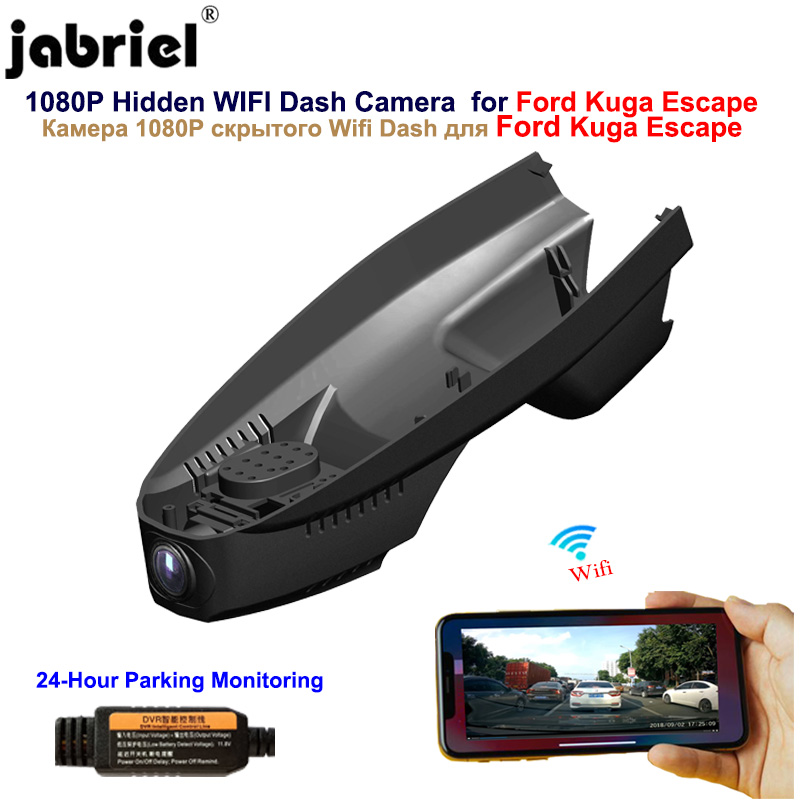 Jabriel <font><b>Hidden</b></font> 1080P <font><b>Wifi</b></font> dash camera <font><b>car</b></font> <font><b>dvr</b></font> <font><b>Car</b></font> Camera for <font><b>Ford</b></font> Kuga Escape 2008 2009 2010 2013 2014 2015 2016 2017 2018 2019 image
