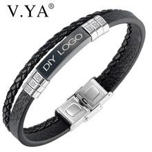 Men Bracelet Jewelry-Accessories Stainless-Steel Bangles Friend-Chain Black Punk Fashion