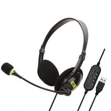 SOONHUA USB Headset Headphone Computer Headsets On Ear Headp