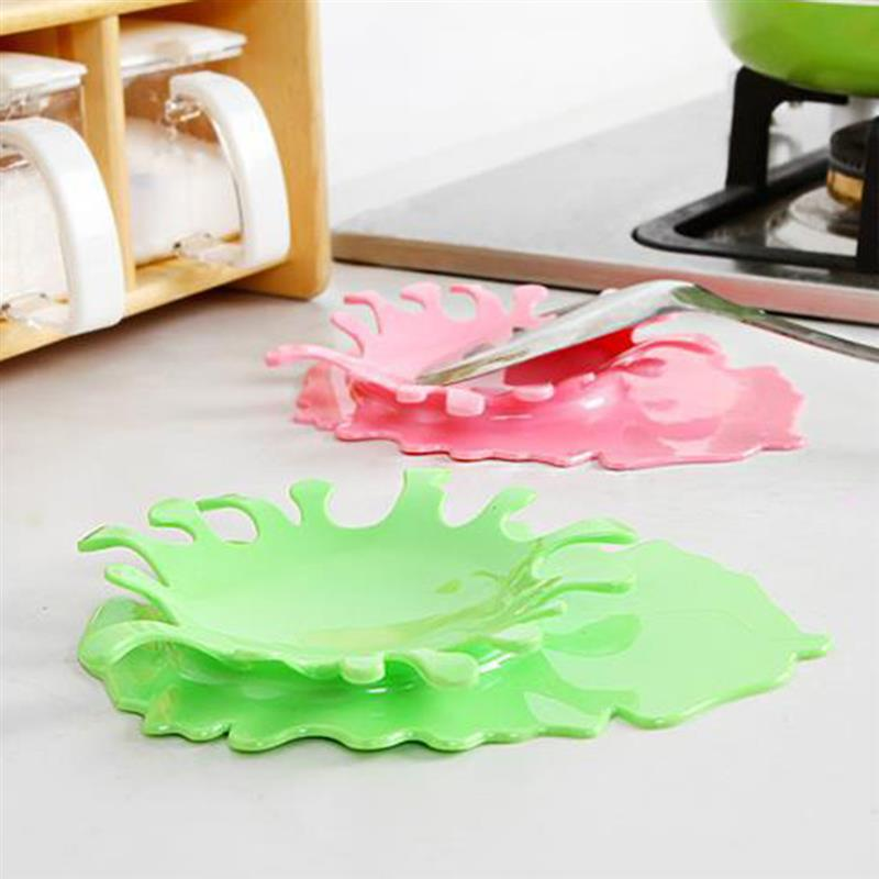 Spatula Ladle Shelf Spoon Rest Pot Lid Holder Rack Cover Strainer Pad Kitchen Multifunction Stand Containers Complements Tool
