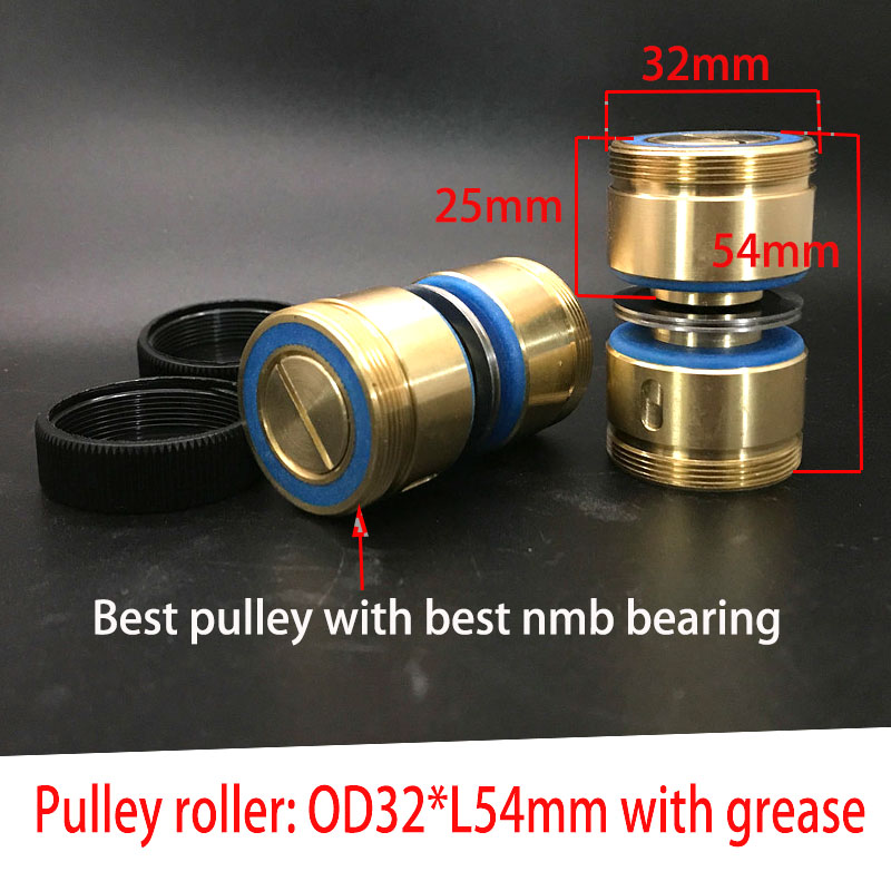 WEDM Brass Seat Guide Wheel Roller 261 OD32*Length54mm Pulley Assembly For CNC Wire Cut Machine
