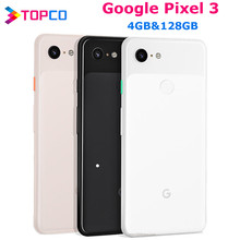 Google Pixel 3 orijinal Unlocked GSM 4G android cep telefonu 5.5 ''12.2MP ve çift 8MP Octa çekirdek Snapdragon 845 4GB ve 128GB AMOLED NFC
