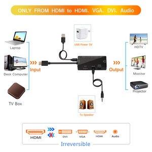 Image 3 - مقسم الوصلات البينية متعددة الوسائط وعالية الوضوح (HDMI) إلى HDMI DVI VGA محول صوت الذهب مطلي جاك 4K ل كمبيوتر محمول HDTV PS3 متعدد المنافذ 4  في 1 محول HDMI