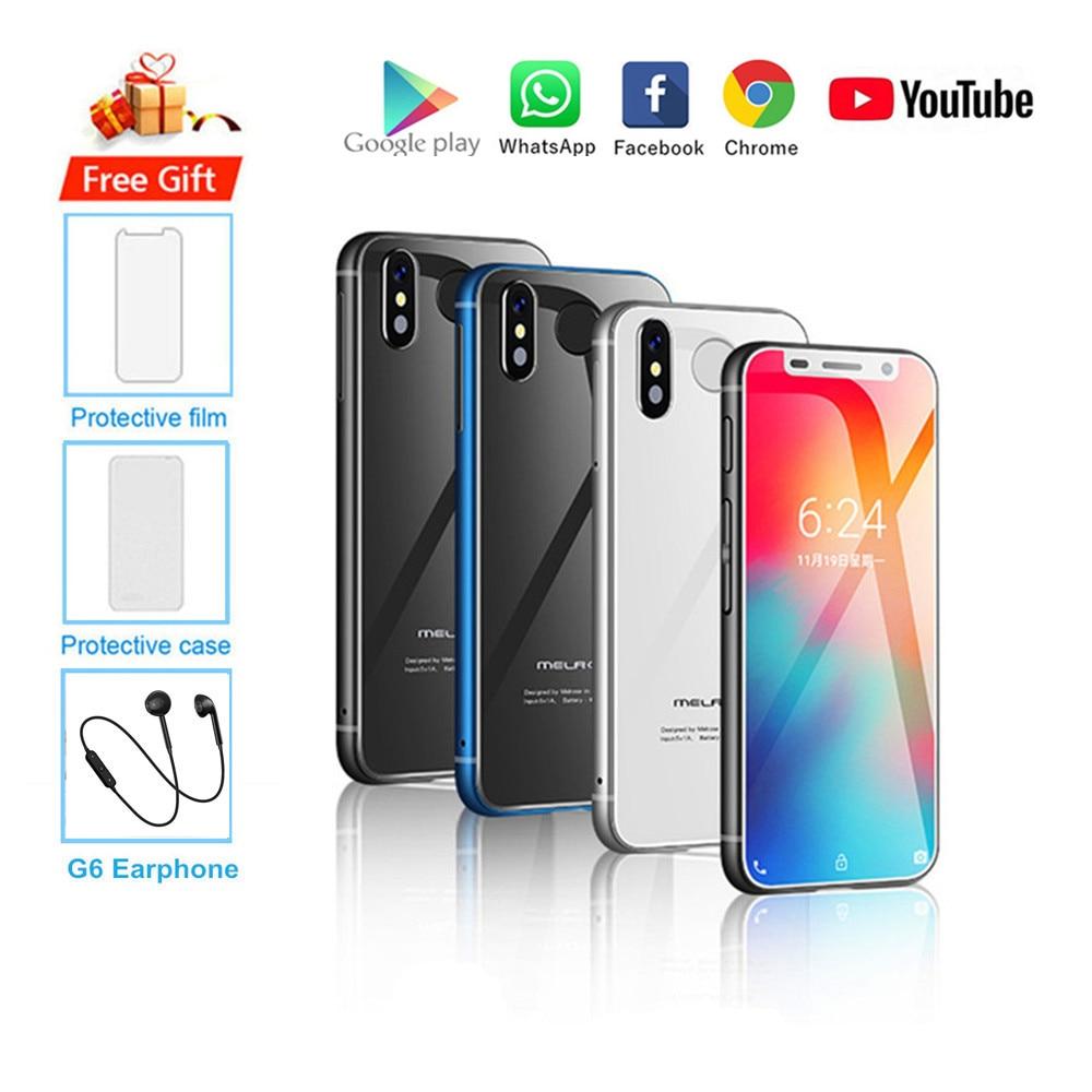 Cadeau! Nouveau Smartphone d'origine Melrose 2019 Android 8.1 4G LTE 3.4 ''Super Mini 3GB 32GB d'empreintes digitales Google téléphone portable PK S9 K15