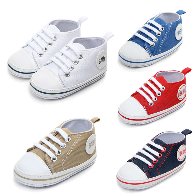 2020 Baby First Walkers Cute Newborn Kid Canvas Sneakers Baby Boy Girl Soft Sole Crib Shoes Pre Walkers 6
