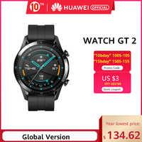 In Magazzino Originale HUAWEI Orologio GT 2 GT2 Smart 46 MILLIMETRI GPS Vita Impermeabile Bluetooth Chiamata di Telefono della Frequenza Cardiaca Per android iOS CN Versio