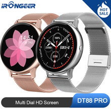 2020 New DT88 Smartwatch IP68 Waterproof Wearable Device Heart Rate Monitor Sports Smart Watch For Android IOS Long Standby diggro di10 smart sport watch ip68 waterproof pedomete long standby time bluetooth 4 0 smart 1 21 inch watch for ios android