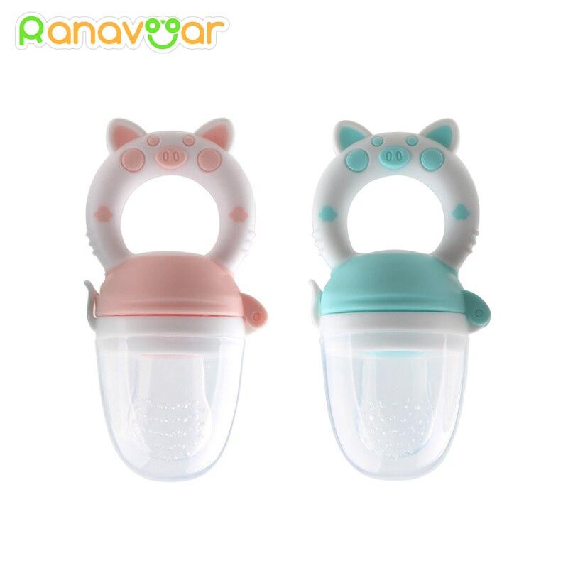 Baby Nipple Fresh Food Silicone Baby Pacifiers Feeder Kids Fruit Feeding Nipple Safe Supplies Nipple Teat Pacifier Bottles