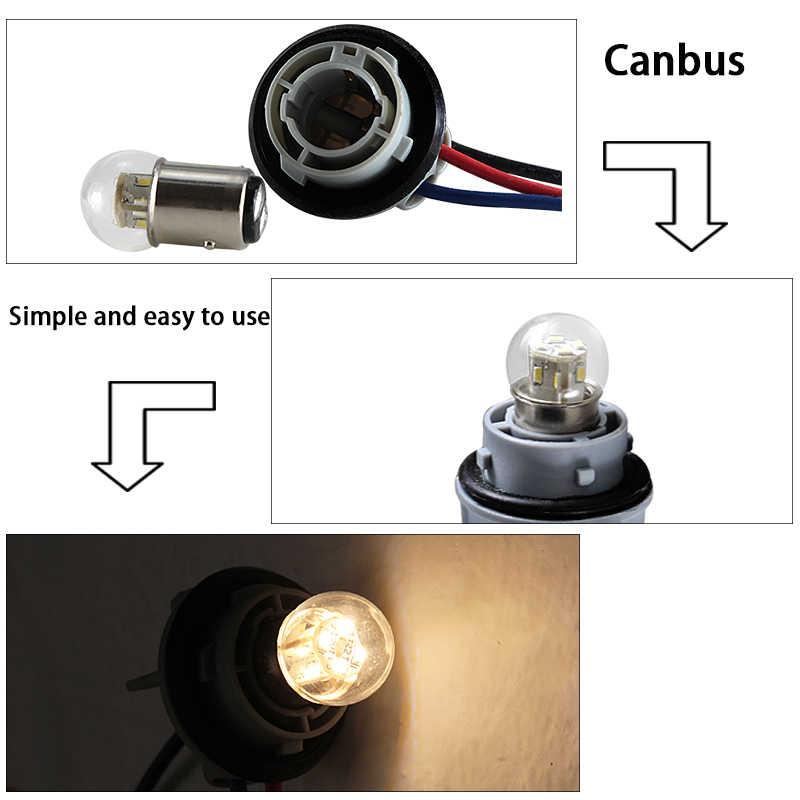 Lampade LED Turn Sinyal Lampu 1157 BAY15D 6V 12V 24V 36V 48V Rem Bohlam 1.5W Kesalahan Gratis Mobil Ekor Rem Stop Reverse Lampu