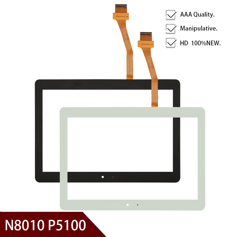 High Quality 10.1 Inch For Samsung Galaxy Note N8000 N8010 P5100 Touch Screen Digitizer Front Glass Free Shipping