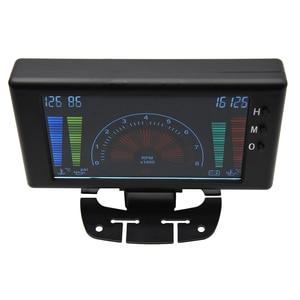 """Image 3 - 5 """"LCD 6 ב 1 פונקציות מרובות LCD אוטומטי רכב מד מד וולט שעון סל""""ד מים טמפ טמפ שמן לחץ שמן רכב מד מד מתח"""