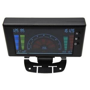 """Image 3 - 5 """"LCD 6 in 1 Mehrere Funktionen LCD Auto Auto Gauge Meter Volt Uhr RPM Wasser Temp Öl Temp öl Druck Auto Gauge Voltmeter"""