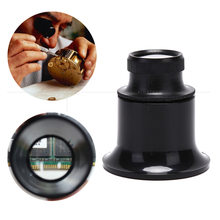 20X Vergrootglas Vergrootglas Vergeet Vergroting Loepen Handgereedschap Eye Lens Lenzen Voor Horlogemaker Sieraden Soldeer Hulp