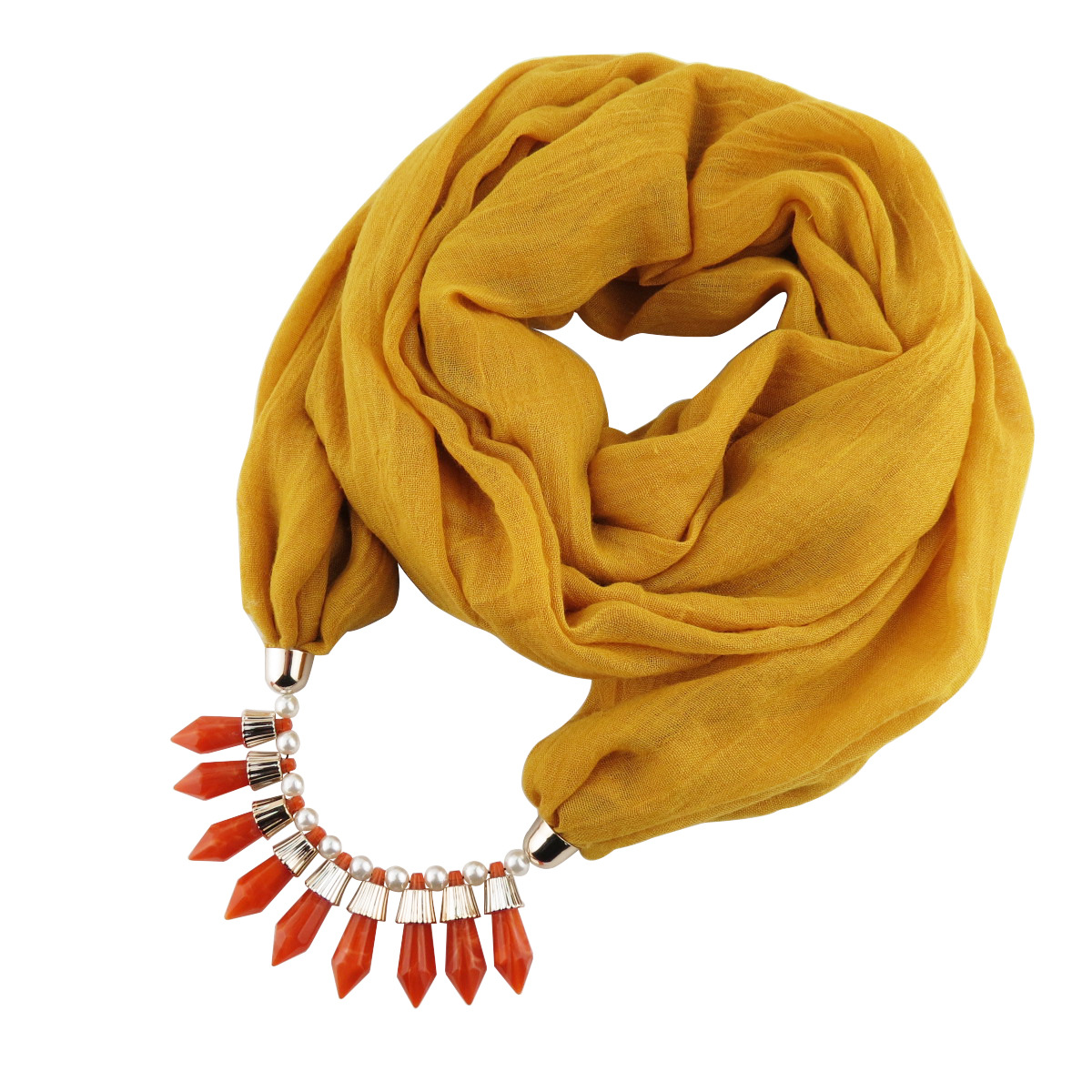High-quality TR cotton foreign trade ornaments and necklace solid scarves with high-quality