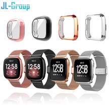 Strap For Fitbit Versa 2 3 Sense Lite Band With TPU Case Screen Protector Bumper For Metal Bracelet For Versa Watch Accessories