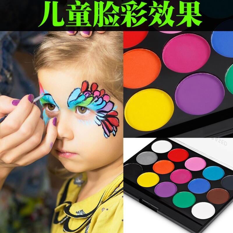 15 цветов, краска для лица, макияж для тела, Нетоксичная безопасная водная краска, масло с кисточкой, инструменты для рождественской вечеринки на Хэллоуин 3