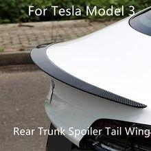 Tesla modelo 3 2017-2020 trasero 2021 maletero labio de fibra de carbono ABS alerón de ala estilo de coche trasero Spoiler tronco Modelo 3