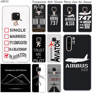 Airplane DIY Airstrip Number SOFT Silicone soft phone case for Huawei Y5P Y6P P10 Mate 10 20 Lite 20X honor 7A 7S V10 V20 V30(China)